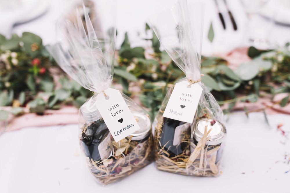 Favours Bags Treats Irnham Hall Wedding Lucie Watson Photography
