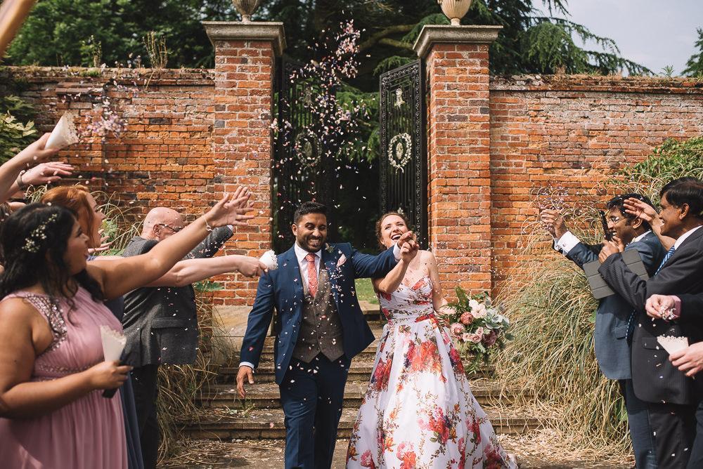 Confetti Throw Irnham Hall Wedding Lucie Watson Photography