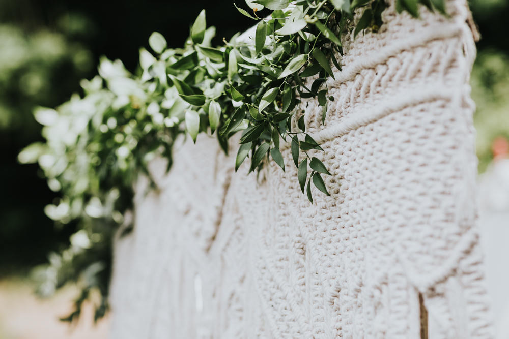 Keeper and The Dell Boho Farm Field Marquee DIY Alternative Rustic Outdoor Ceremony Macrame Ivy Bride Groom Apache Blessing | Relaxed Outdoor Wedding with 1000 Rainbow Origami Cranes Dan Biggins Photography