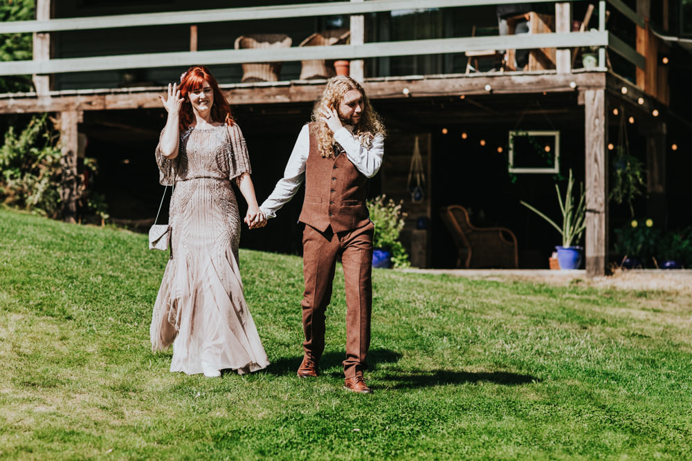 Keeper and The Dell Boho Farm Field Marquee DIY Alternative Rustic Bride Groom Pink Sequin Dress Brown Suit | Relaxed Outdoor Wedding with 1000 Rainbow Origami Cranes Dan Biggins Photography