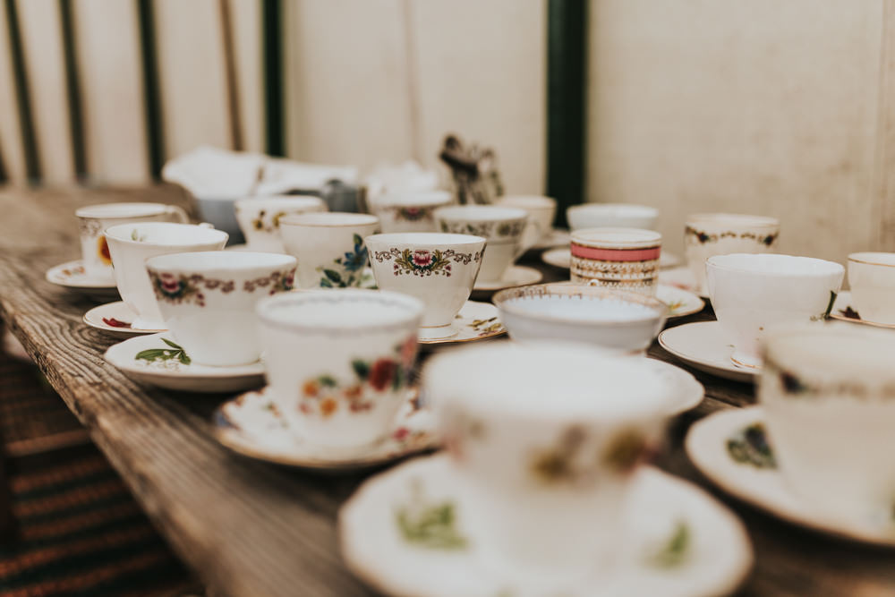 Keeper and The Dell Boho Farm Field Marquee DIY Alternative Rustic Afternoon Tea | Relaxed Outdoor Wedding with 1000 Rainbow Origami Cranes Dan Biggins Photography