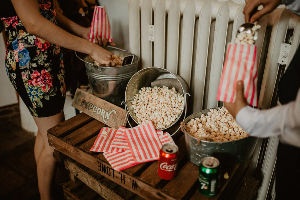 Popcorn Stand Station Bar Norwich Cathedral Wedding Camilla Andrea Photography