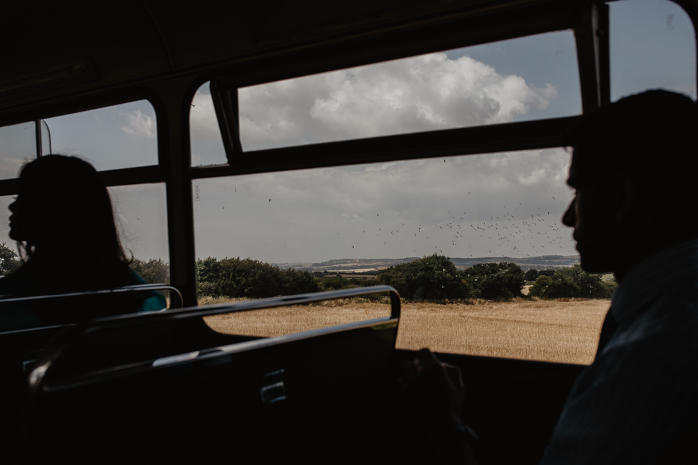 Osborne House Isle of Wight Natural Classic Bus Guest Transport Groom | Timeless Royal Inspired Seaside Wedding Holly Cade Photography