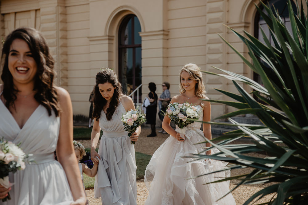 Osborne House Isle of Wight Natural Classic Bride Blush Pastel Bouquets Stella York Dress Vera Wang Bridesmaids | Timeless Royal Inspired Seaside Wedding Holly Cade Photography