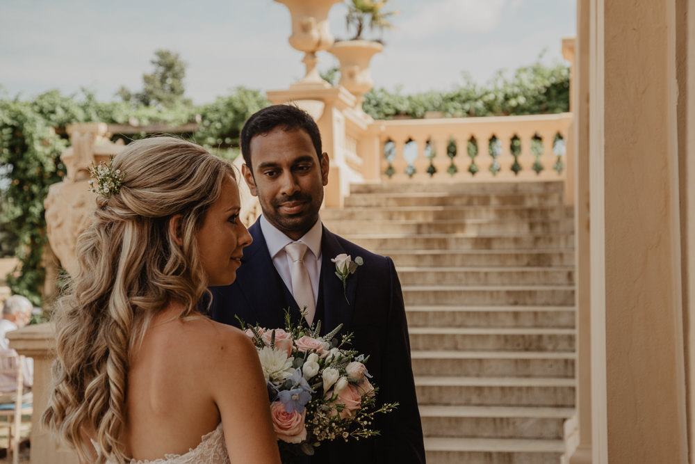 Osborne House Isle of Wight Natural Classic Bride Blush Pastel Bouquets Stella York Dress Groom Outdoor Ceremony | Timeless Royal Inspired Seaside Wedding Holly Cade Photography