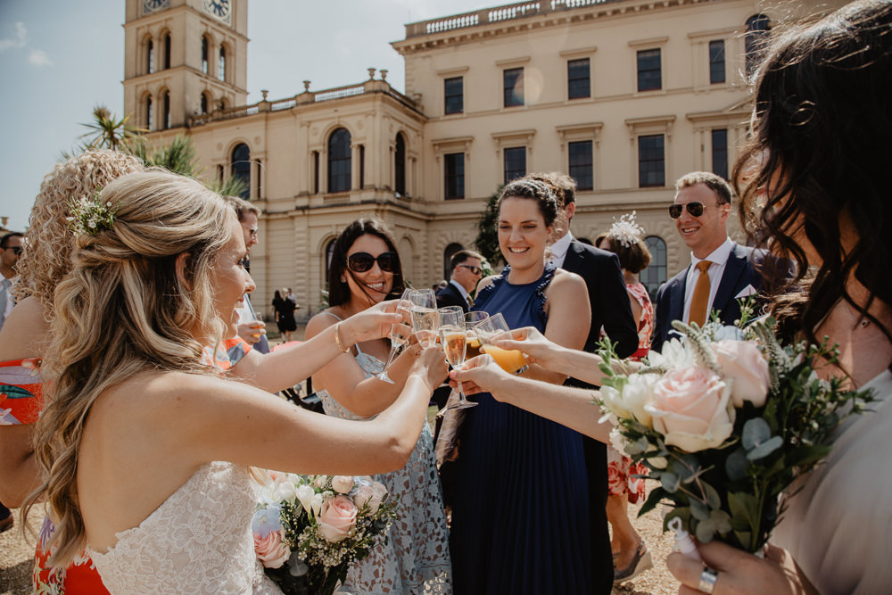 Osborne House Isle of Wight Natural Classic Bride Blush Pastel Bouquets Stella York Dress Groom Outdoor Reception Drinks | Timeless Royal Inspired Seaside Wedding Holly Cade Photography