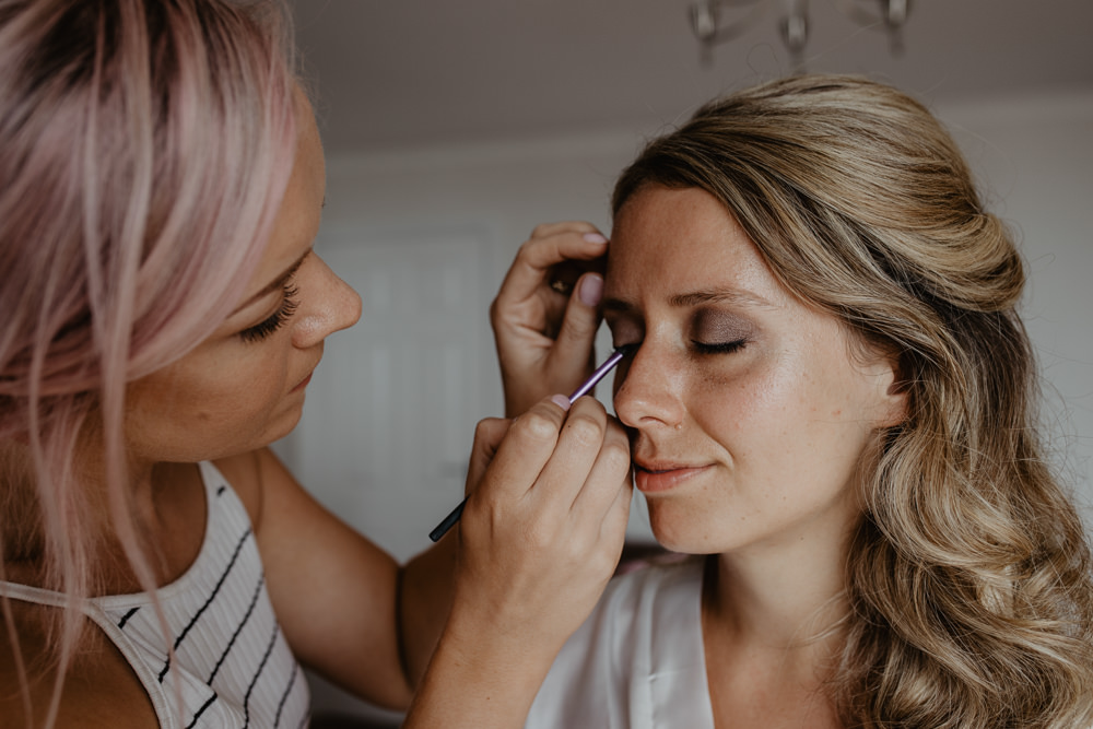 Osborne House Isle of Wight Natural Classic Bride Morning Prep Make-up Curls Down Long Hair | Timeless Royal Inspired Seaside Wedding Holly Cade Photography