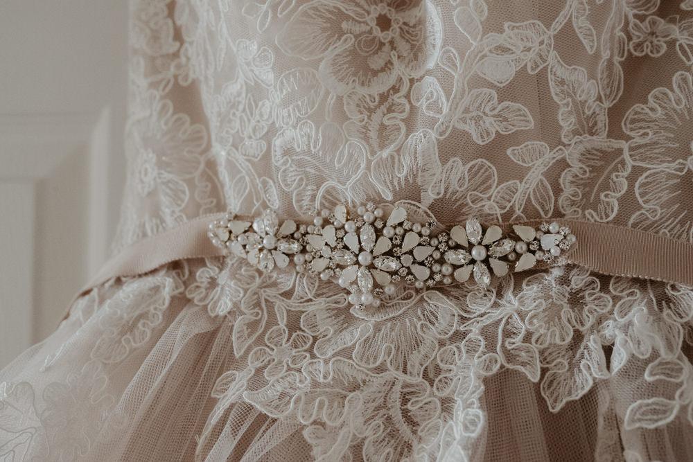 Osborne House Isle of Wight Natural Classic Bride Morning Prep Blush Pink Stella York Dress | Timeless Royal Inspired Seaside Wedding Holly Cade Photography