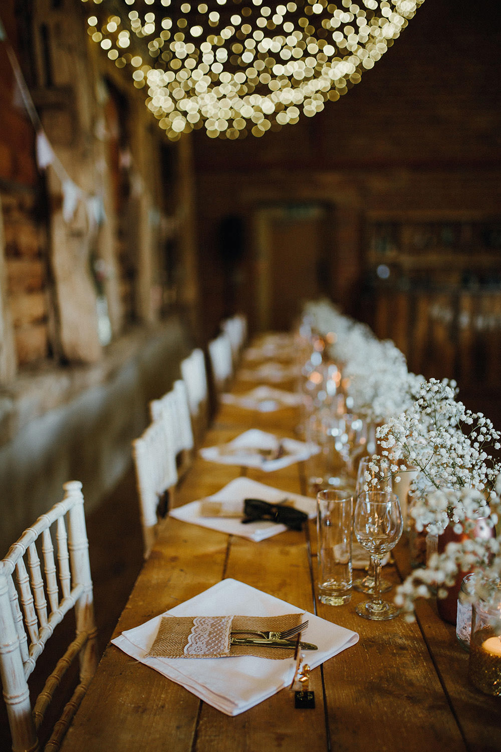 Long Wooden Rustic Tables Pimhill Barn Wedding Shrophire Leah Lombardi Photography