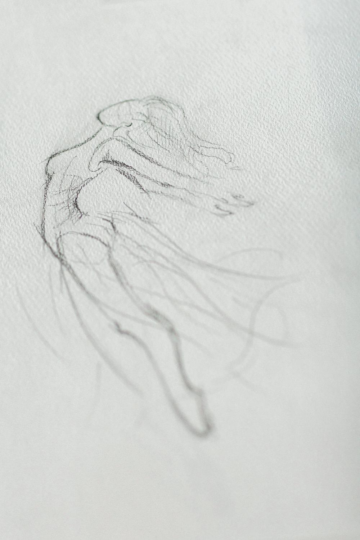 Modern Wabi Sabi Ballet Dance Inspired Fine Art Editorial Somerley House Stationery Sketch | Romantic Soft Wedding Ideas Siobhan H Photography