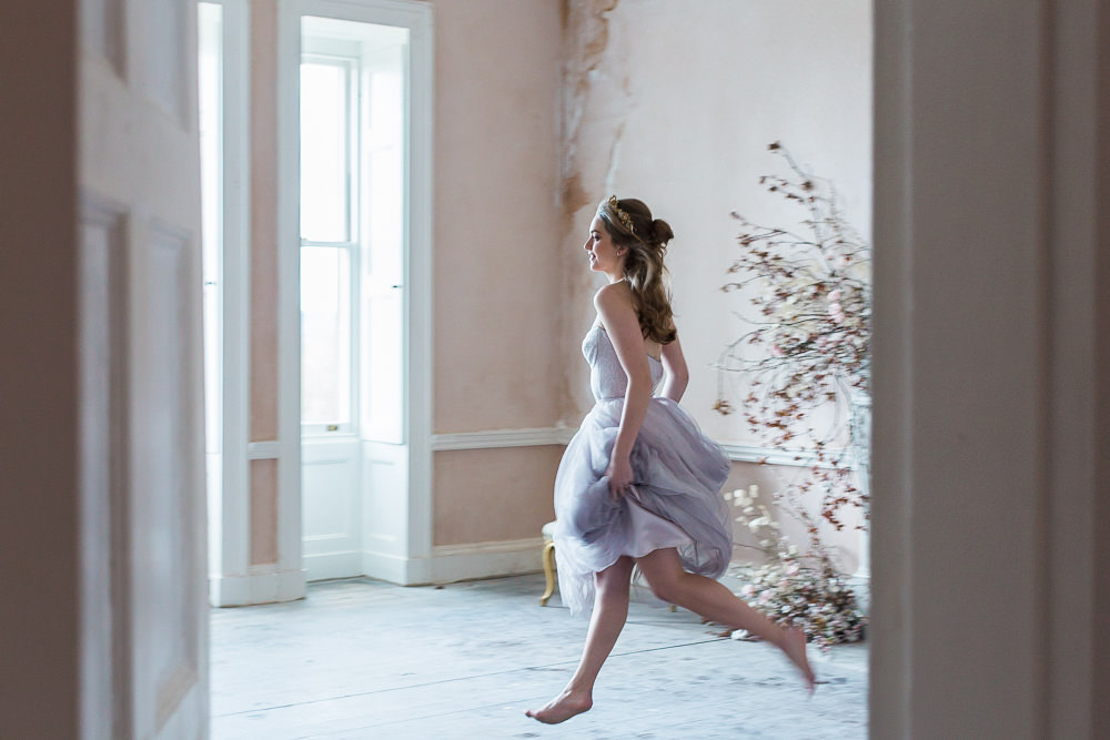 Modern Ballet Inspired Editorial Fine Art Somerley House Bride Lilac Dress Naomi Neoh Dancing Cherry Blossoms Lunaria | Romantic Soft Wedding Ideas Siobhan H Photography