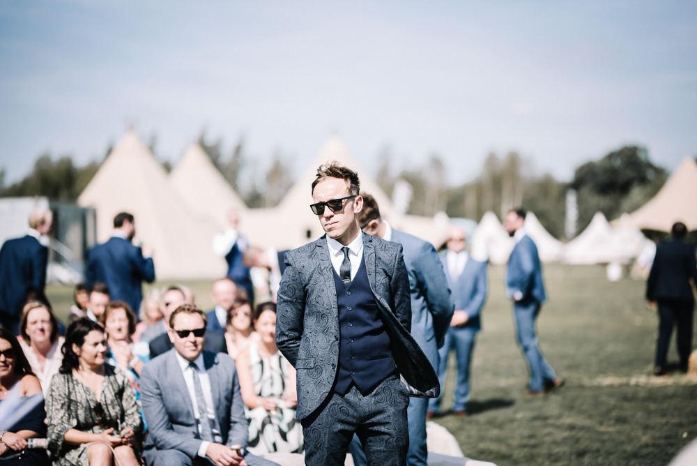 Groom Suit Blue Waistcoat Alcott Weddings Oobaloos Photography
