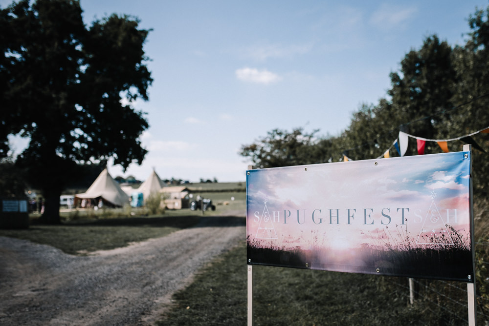 Festival Sign Signage Alcott Weddings Oobaloos Photography