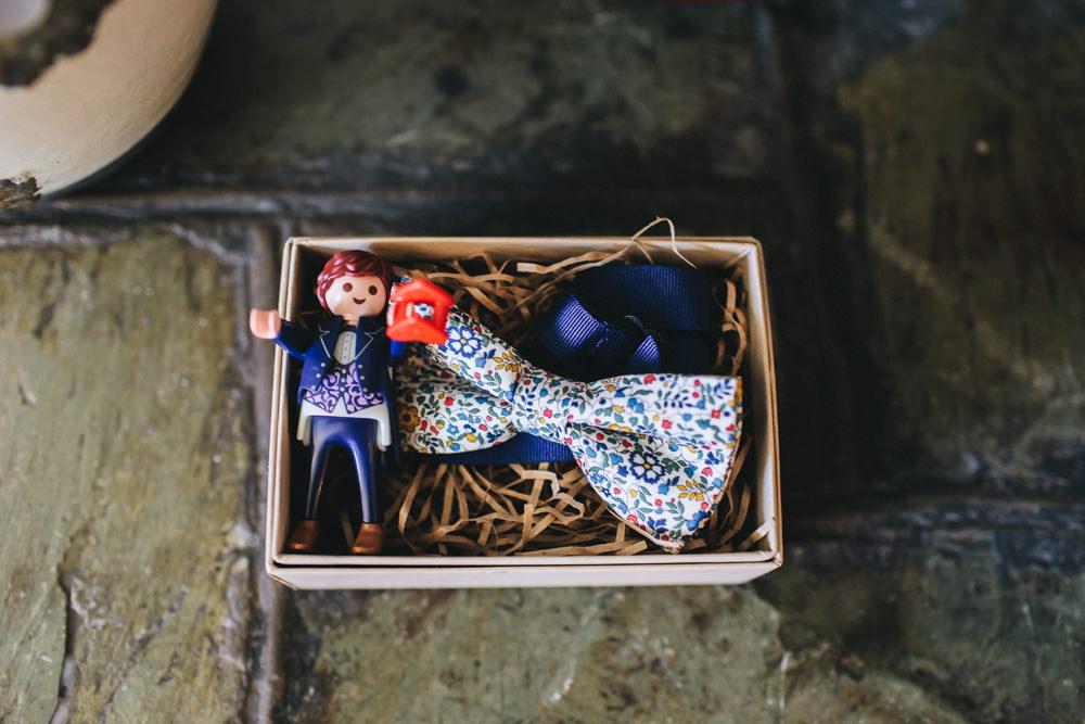 Printed Colourful Bow Tie Bach Wen Farm Wedding Jessica O'Shaughnessy Photography