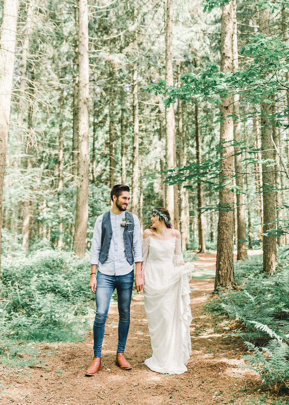 Groom Style Denim Jeans Waistcoat Shirt Boho Woodland Wedding Ideas Camp Katur Emily Olivia Photography