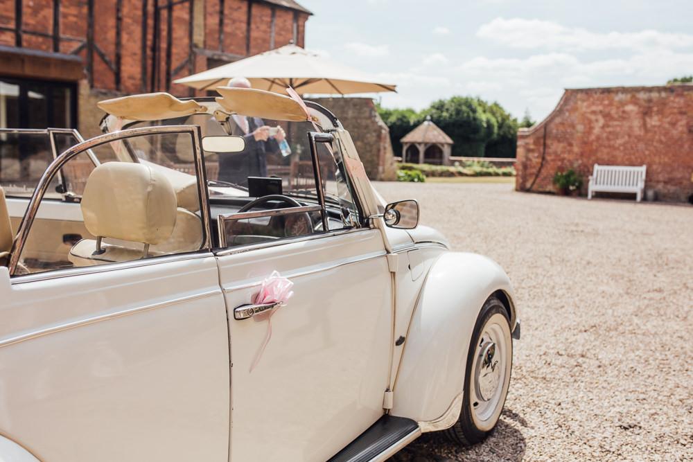 Bridal Transport VW Beetle Vintage Car Celestial Country Wedding Florence Fox Photography