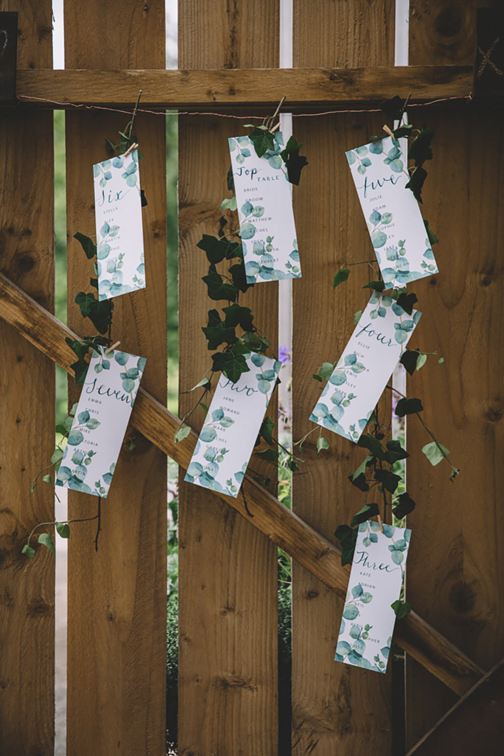 Seating Plan Table Chart Suspended Hanging Greenery Free Spirited Wedding Ideas Woodland Lumiere Photographic