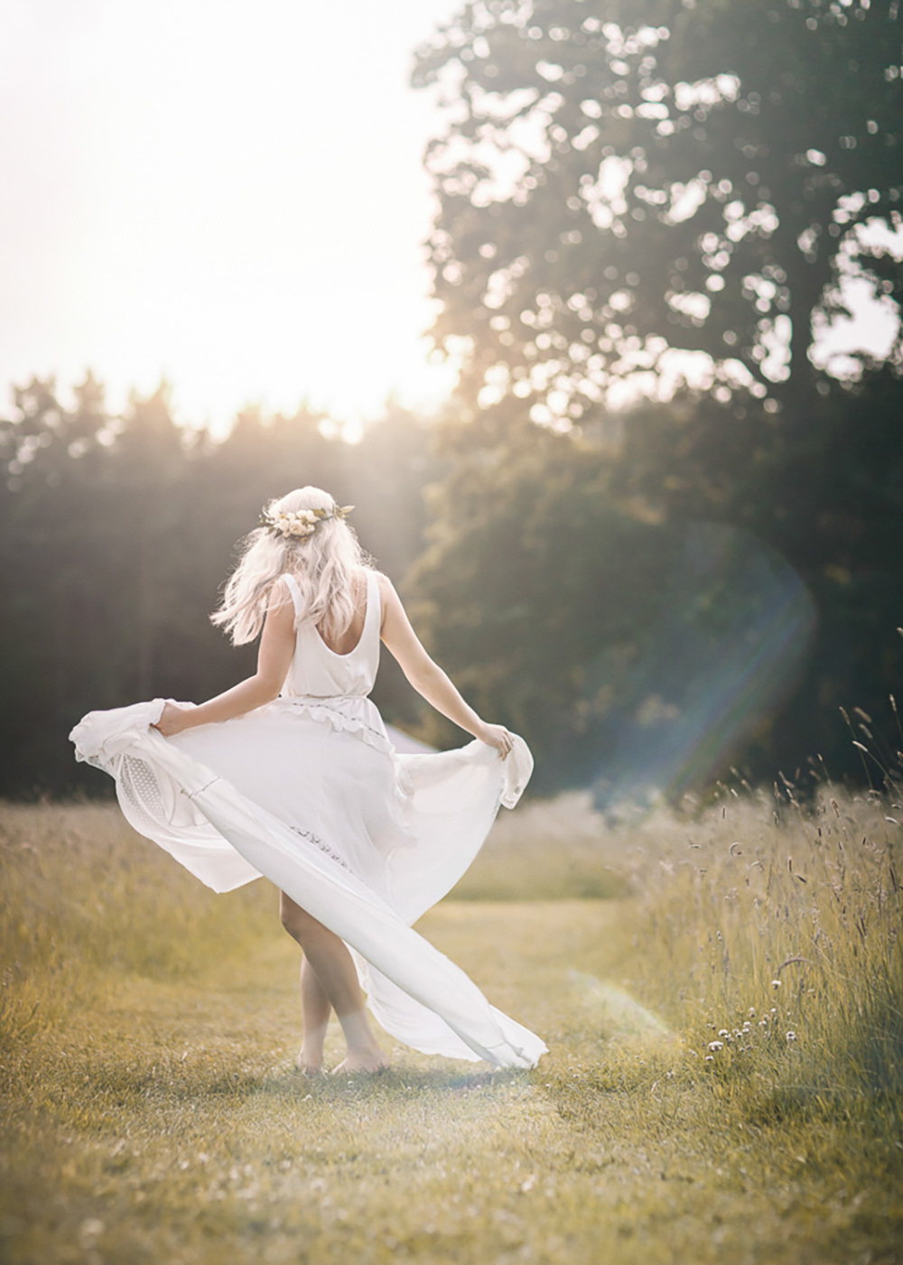 Bride Bridal Dress Gown Polka Dot Tulle Ruffle Train Bohemian Free Spirited Wedding Ideas Woodland Lumiere Photographic