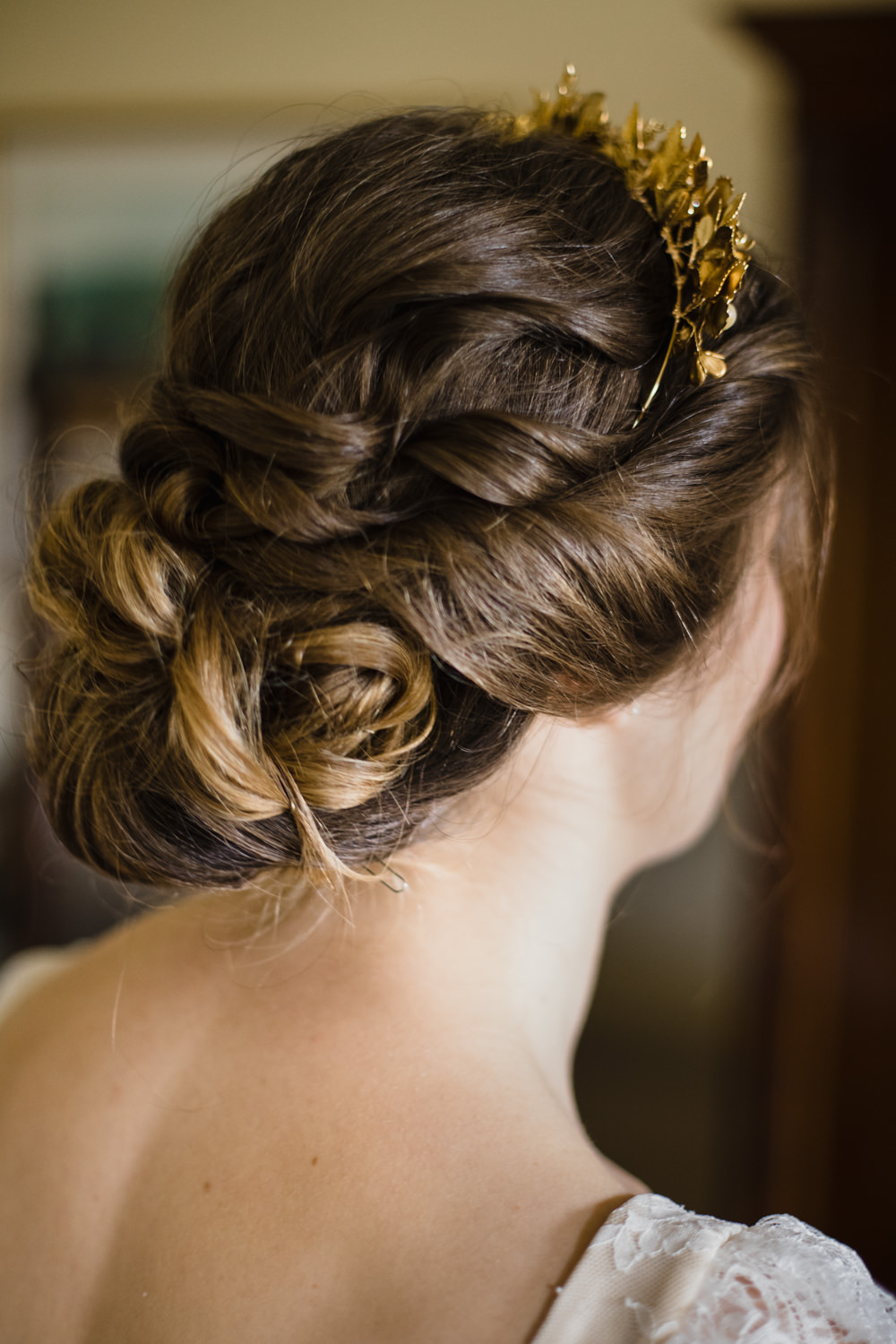 Bride Bridal Hair Style Up Do Twist Curls Fun Laughter Relaxed Wedding Chris Barber Photography