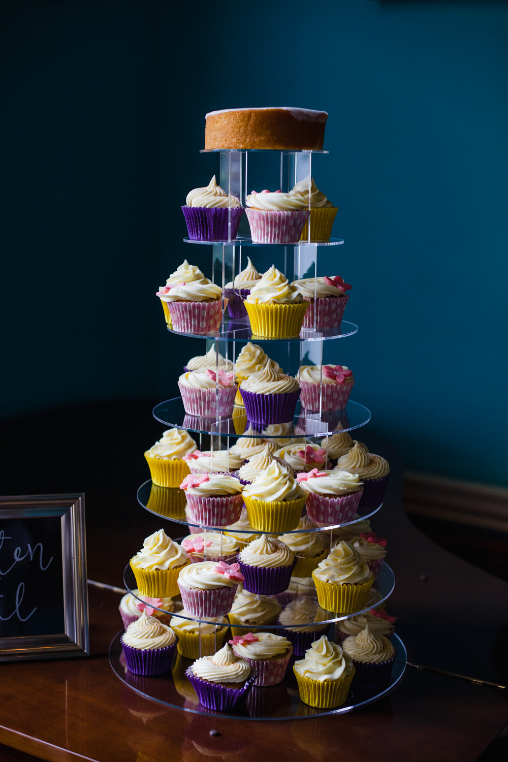 Cupcake Cake Tower Fun Laughter Relaxed Wedding Chris Barber Photography