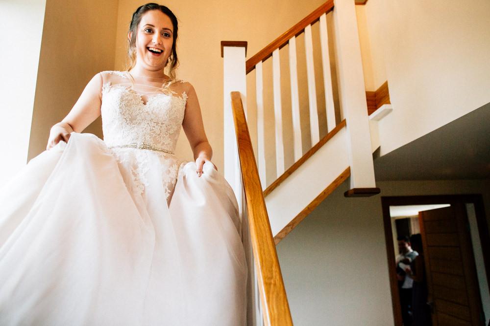 Bride Bridal Lace Tulle Full Skirt Sweetheart Illusion Fun Quirky Colourful Wedding Fairclough Studios