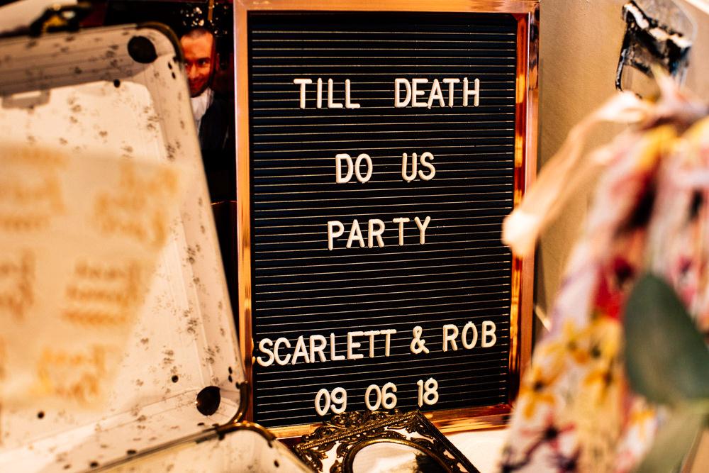 Peg Board Sign Signage Gamekeepers Inn Wedding Fairclough Studios