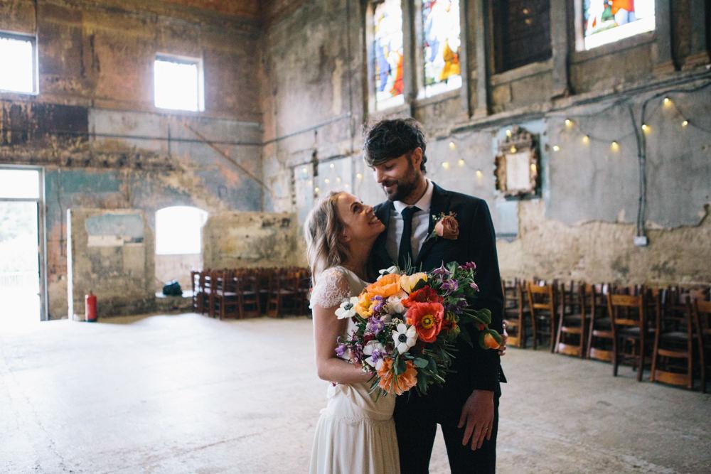 Groom Suit Navy Tie London Elopement Wedding Asylum Robbins Photographic