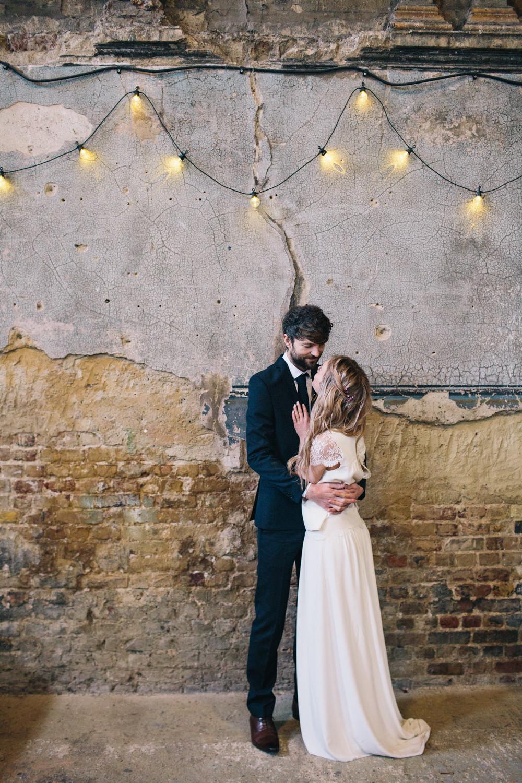 Laure De Sagazan Bridal Separates Skirt Top Bride Dress Gown Lace London Elopement Wedding Asylum Robbins Photographic