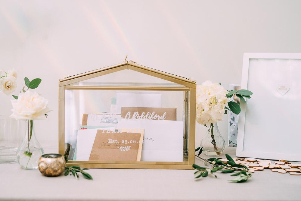 Card Box Glass Terrarium Presents Old Down Estate Wedding Albert Palmer Photography