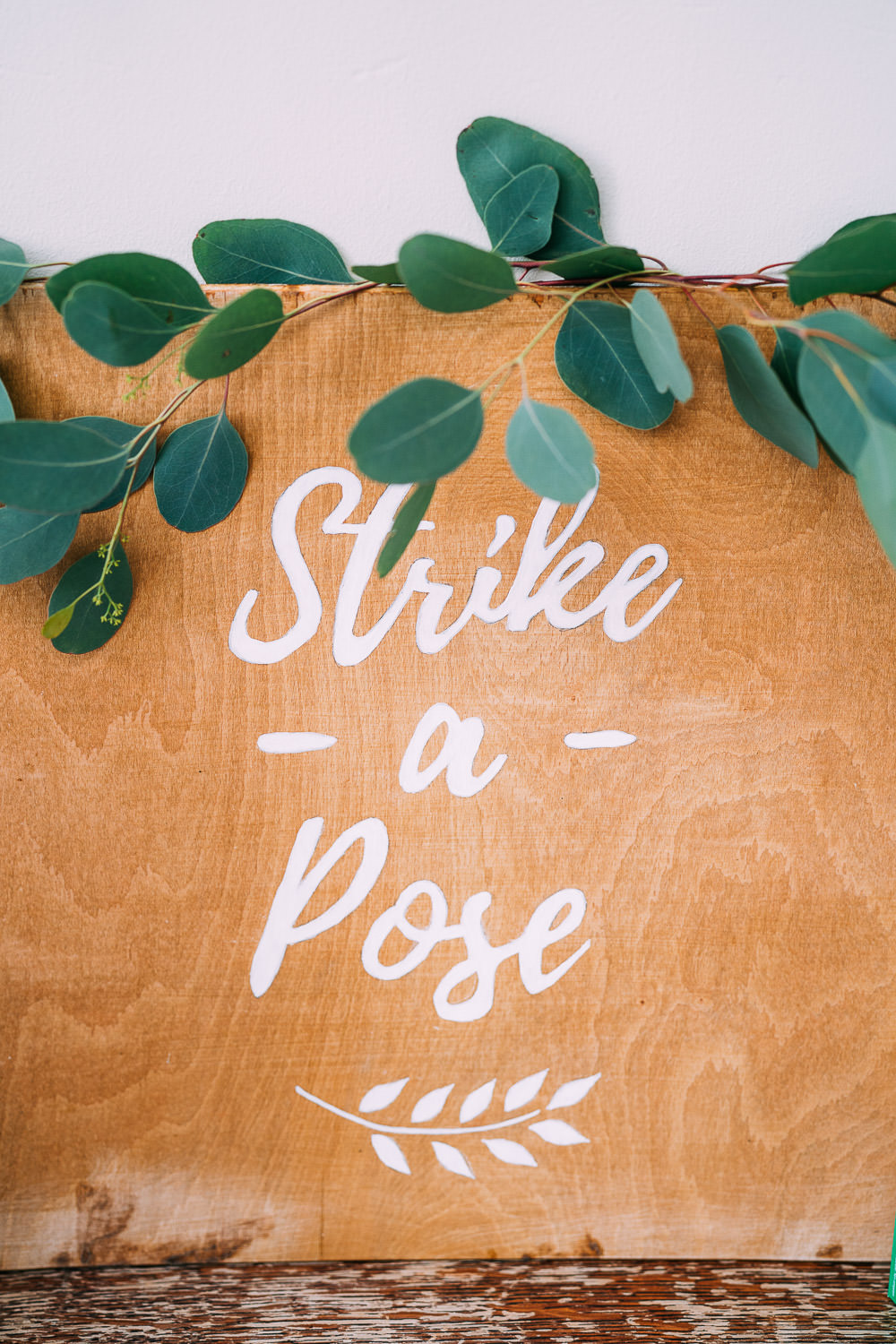 Photobooth Sign Wood Calligraphy Greenery Foliage Easel Old Down Estate Wedding Albert Palmer Photography