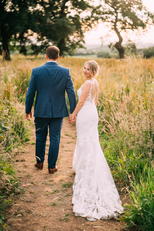 Lace Strap Gown Bride Bridal Dress Train Enzoani Old Down Estate Wedding Albert Palmer Photography