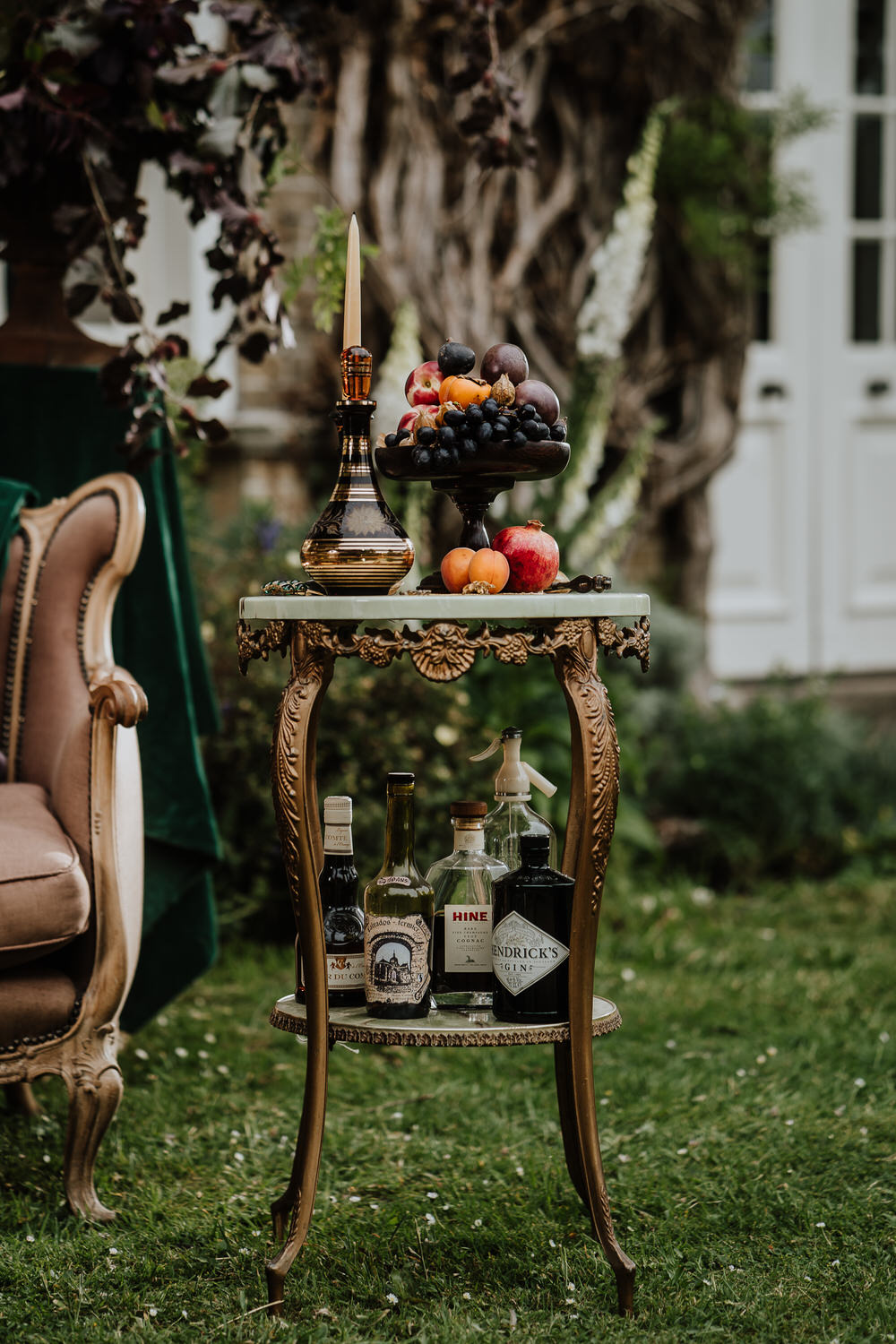 Fruit Candles Decor Table Pylewell Park Wedding New Forest Studio