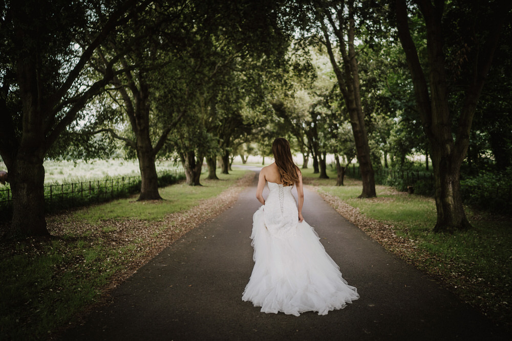 Bride Bridal Dress Gown Princess Lace Strapless Pylewell Park Wedding New Forest Studio