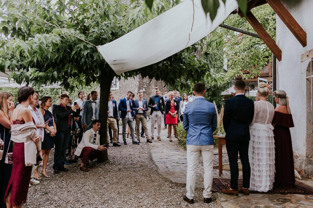 Outdoor Ceremony Slovenia Wedding Bohemian Maja Tsolo Photography