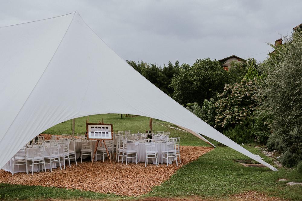 Open Marquee Stretch Tent Slovenia Wedding Bohemian Maja Tsolo Photography