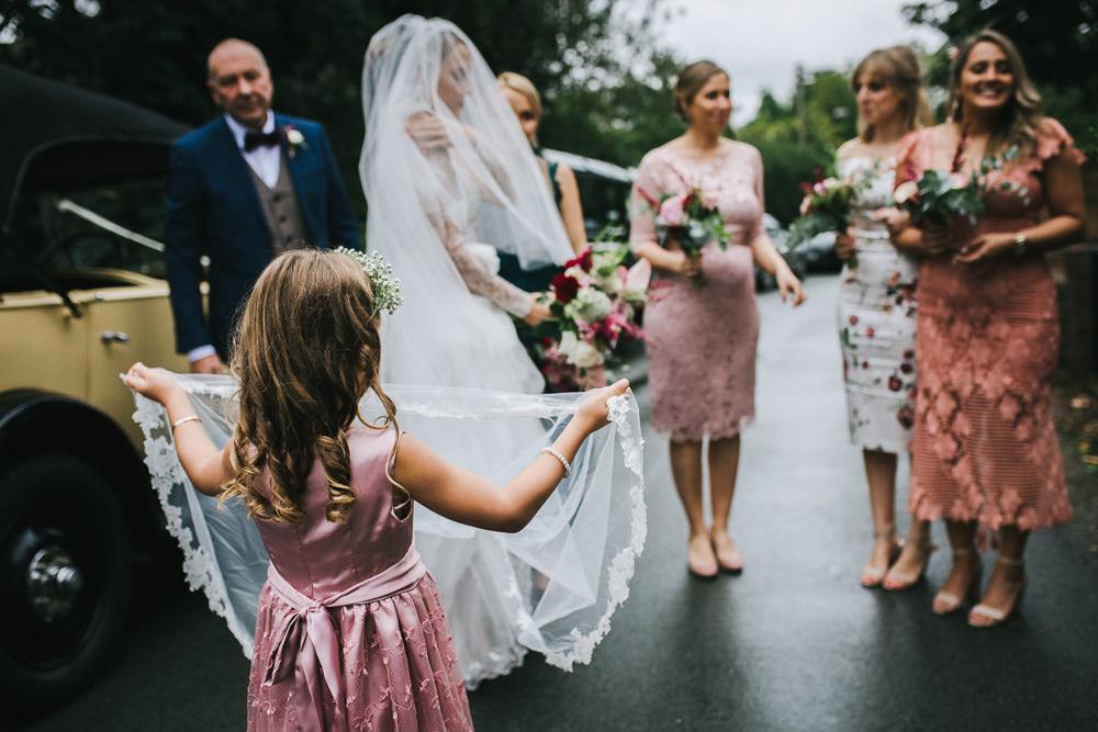 Flower Girl Dress Pink Bride Tipi Garden Wedding Amy Jordison Photography