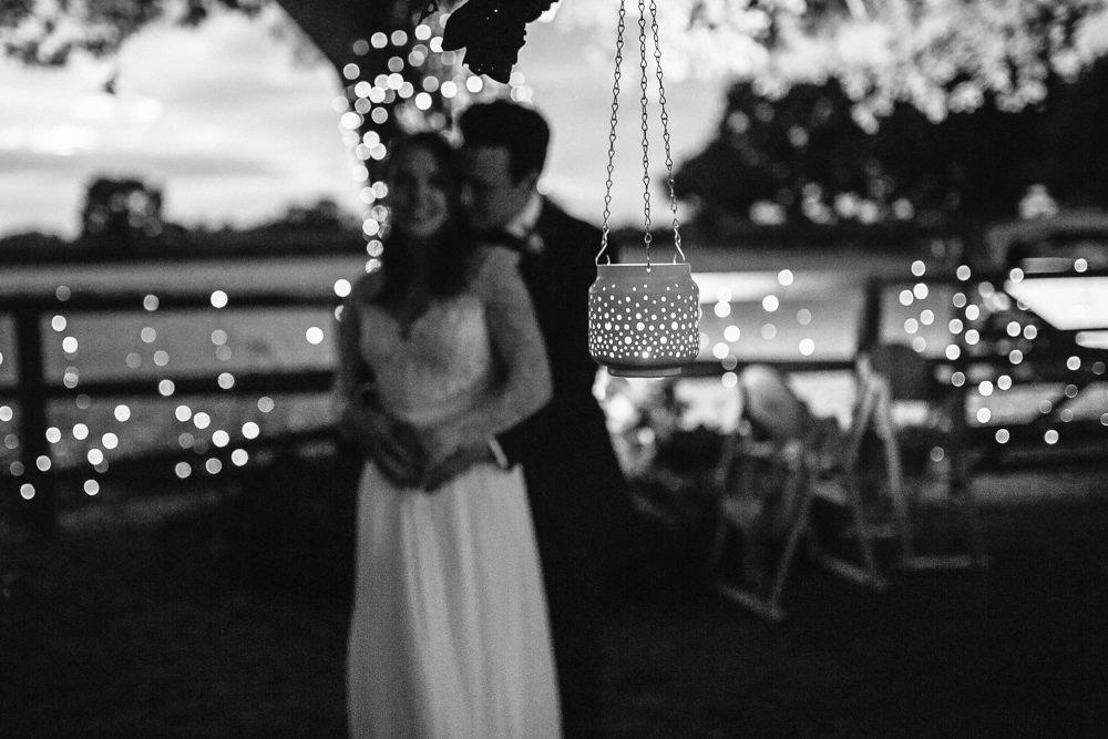 Fairy Lights Candles Bride Groom Tipi Garden Wedding Amy Jordison Photography