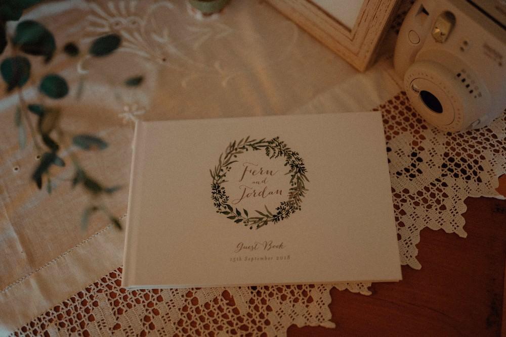 Botanical Guest Book Autumn Dark Red Wedding Belle Art Photography