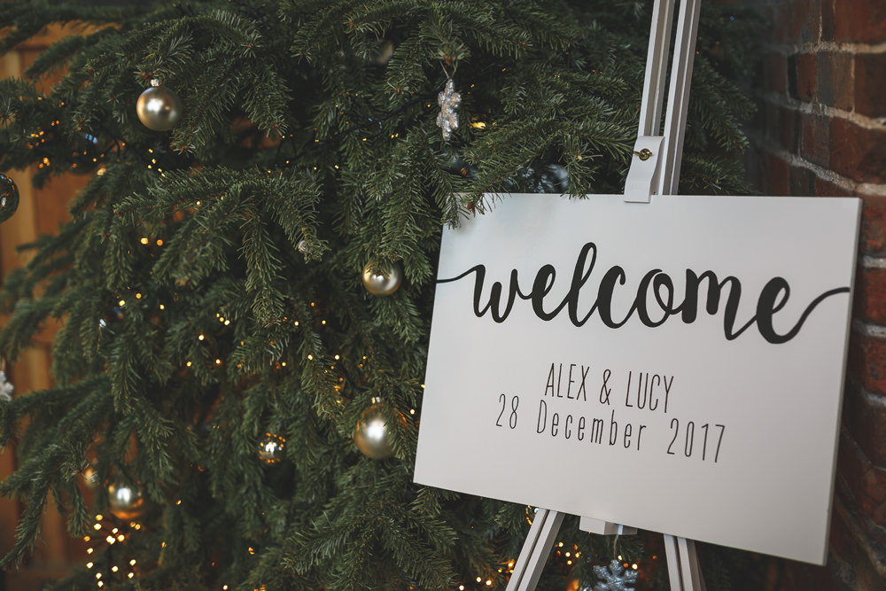 Welcome Sign Calligraphy Christmas Wedding Gareth Newstead Photography