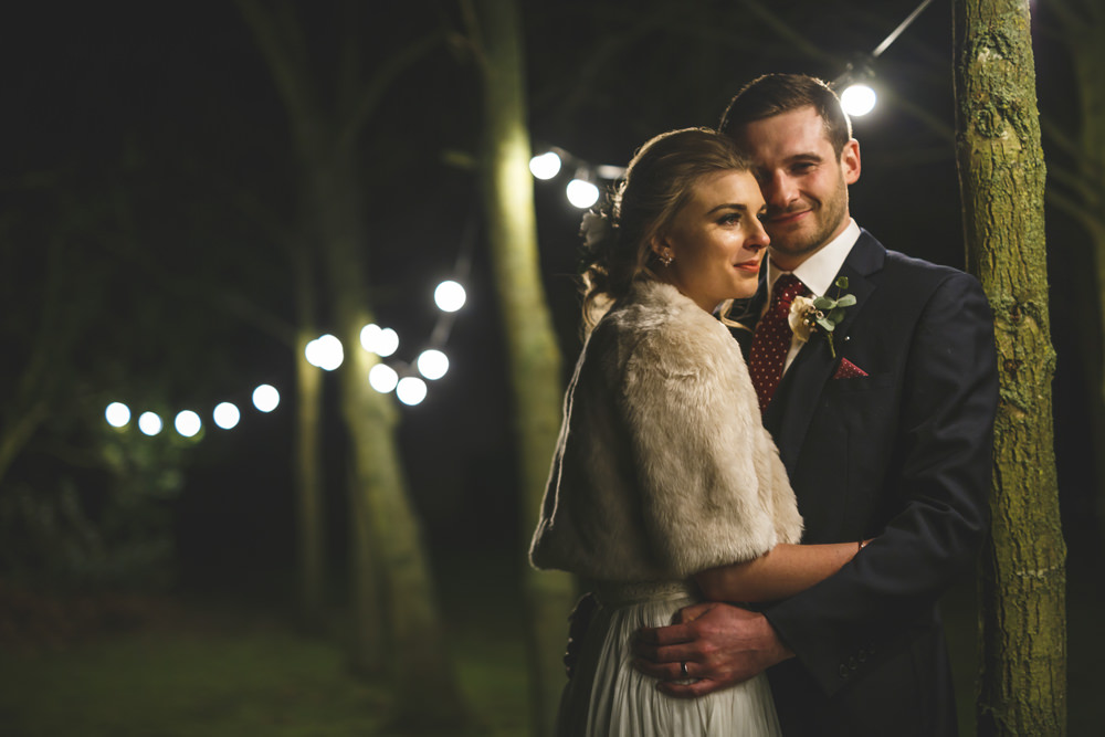 Festoon Lights Christmas Wedding Gareth Newstead Photography