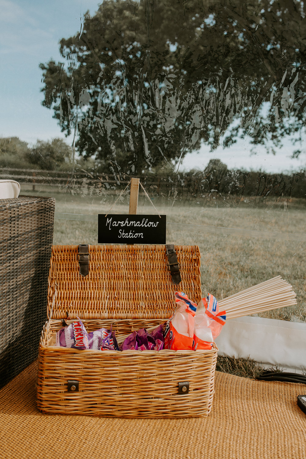Marshmallows Smores City Cathedral Country Marquee Wedding Siobhan Beales Photography