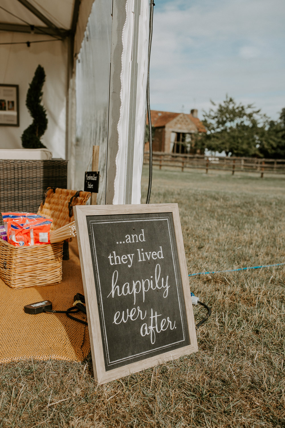 Sign Wooden Black Chalk Board City Cathedral Country Marquee Wedding Siobhan Beales Photography