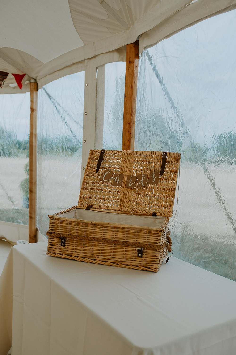 Card Basket Hamper City Cathedral Country Marquee Wedding Siobhan Beales Photography