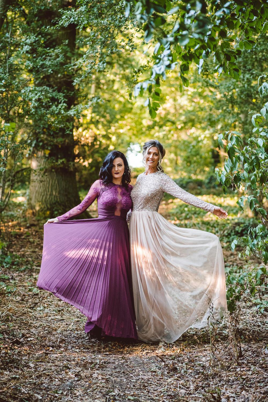 Deep Purple Bridesmaid Dress Long Maxi Ethereal Magical Golden Hour Wedding Ideas Dhw Photography