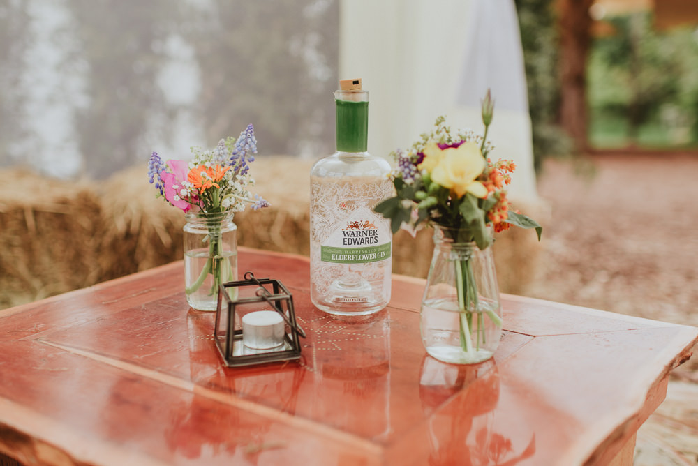 Bottles Flowers Colourful Decor Table Plush Tents Glamping Wedding Big Bouquet Photography