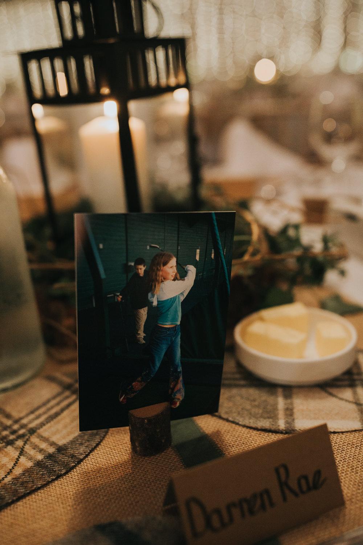 Place Setting Child Photo Card Strawberry Barn Wedding Jen Owens Images