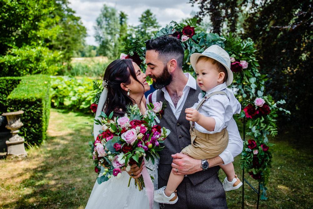 Page Boy Hat Bow Tie Braces West Lexham Wedding James Powell Photography