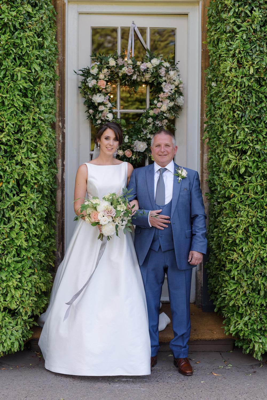 Bride Bridal A Line Dress Straps Sleeveless Silk Boat Neck Neck Blue Suit Veil Babington House Wedding Ria Mishaal Photography