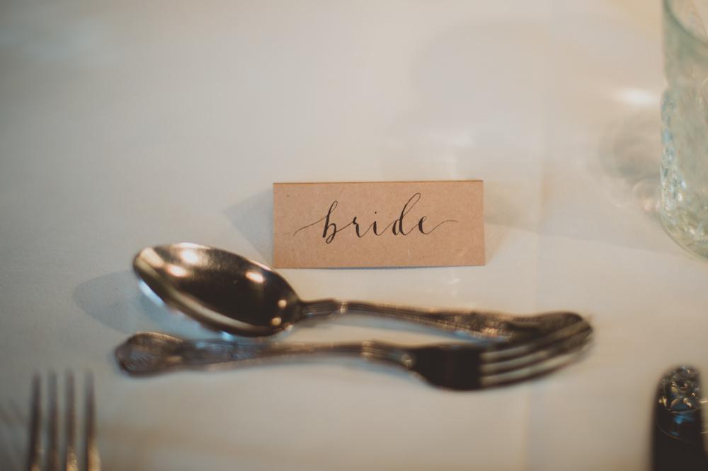 Calligraphy Place Name Card Newton Hall Wedding Sasha Weddings