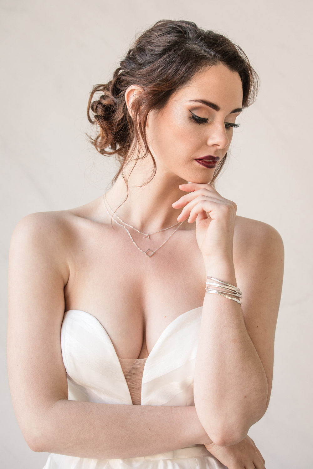Bride Bridal Make Up Red Lip Winter Luxe Wedding Ideas Becky Harley Photography